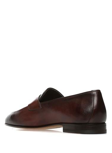 %100 Deri Loafer Ayakkabı-Santoni